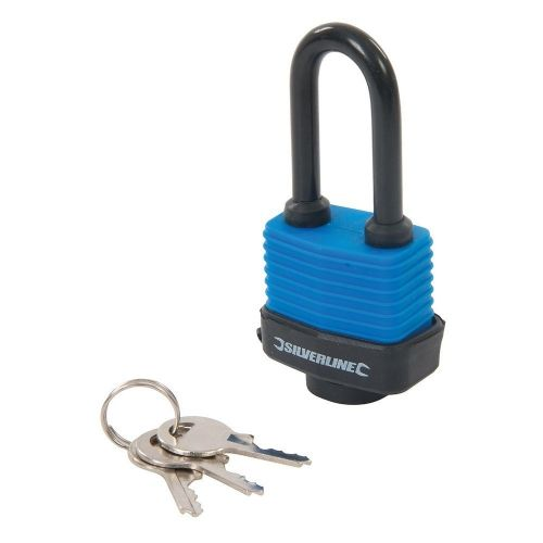 Silverline 218458 Weather Resistant Padlock Long Shackle 48mm